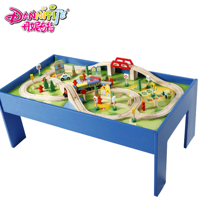 Wooden Game Table Track Toy Model Roller Coaster Compatible Thomas Train