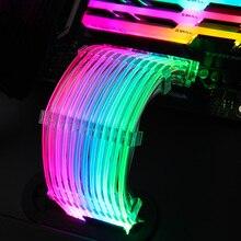 LIANLI Rainbow 5 в RGB силовой удлинитель используется для 24PIN к материнской плате или 8PIN + 8PIN к GPU/кабель передачи/Поддержка 3PIN Header