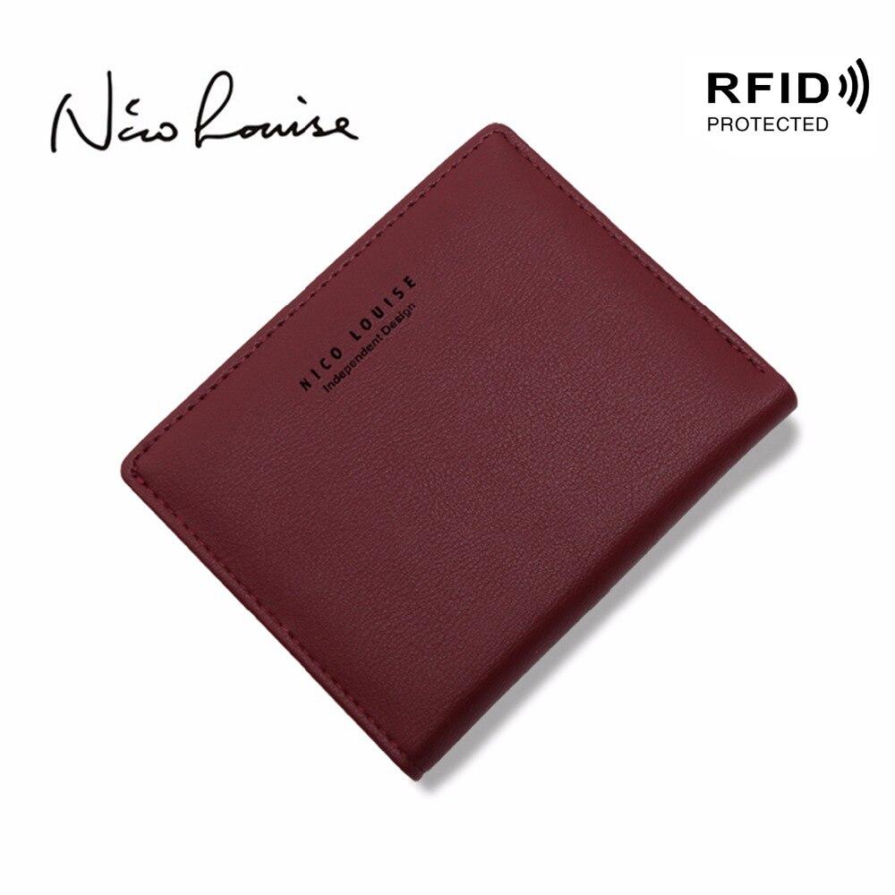 Frauen Schöne Leder Zipper RFID Brieftasche Mode Rfid Sperrung Dame Kleine Ändern Geldbörse Karte Halter Heiße Weibliche Kupplung Carteras