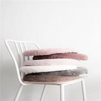 Korean Rabbit And Rabbit Villi Circular Chair Cushion Round Chair Seat Cushion Kid Kussens Sofa Throw 1Pcs Almofadas Cojines