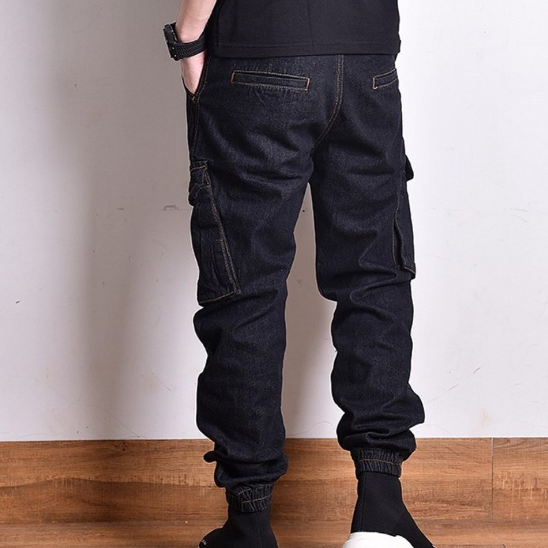 71161170e3 Compre Tamaño 28 38 Hip Hop Men Jeans Runway Pantalones De Vaquero ...