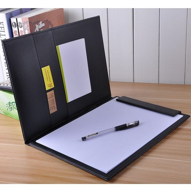 clipboard office paper holder clip. Free Shipping Wholesale PU Leather A4 Clipboard Writing Pad School Office Supply Gift Stationery Folders Folder Paper Holder Clip L