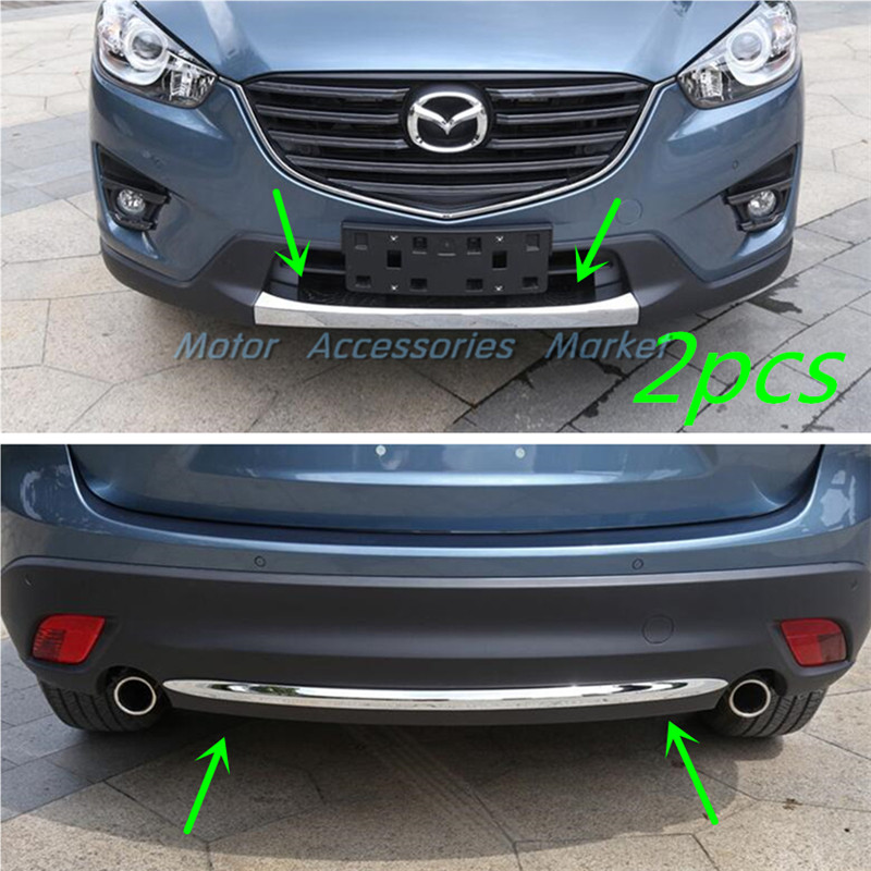 New Chrome Front Rear Bumper Trunk Lid Lower Molding For Mazda CX 5 2013 2014 2015
