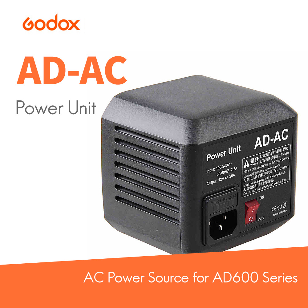 Godox AD-AC AC Power adapter U.S. regulations or European regulations Adapter with Cable for AD600 AD600B AD600M AD600BM godox ad600 ad ac 100 240v power source adapter with cable for ad600b ad600bm ad600m ad600 with led video light lighting lamp