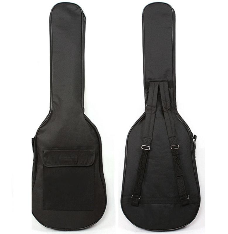 electric guitar bag soft case double straps backpack side portable handle book pocket in guitar. Black Bedroom Furniture Sets. Home Design Ideas