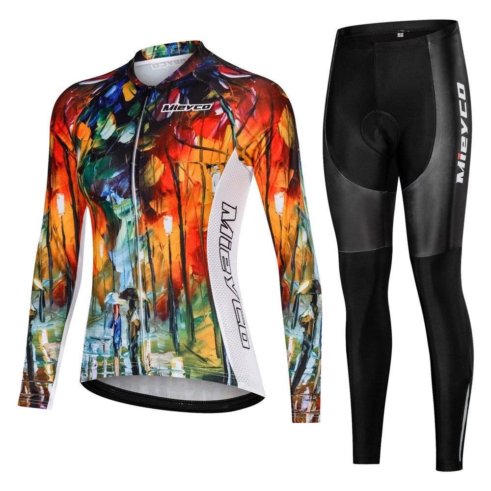 Pro Women Cycling Set MTB Bike Clothing Female Racing Bicycle Clothes Custom Design Mtb Bicycle Clothes Female Jersey
