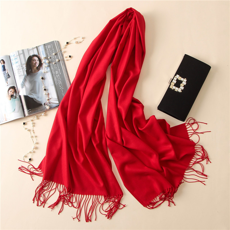 2020 New Luxury Brand Women Cashmere Solid Scarf Summer Thin Pashmina Shawls And Wraps Female Foulard Hijab Stoles Head Scarves