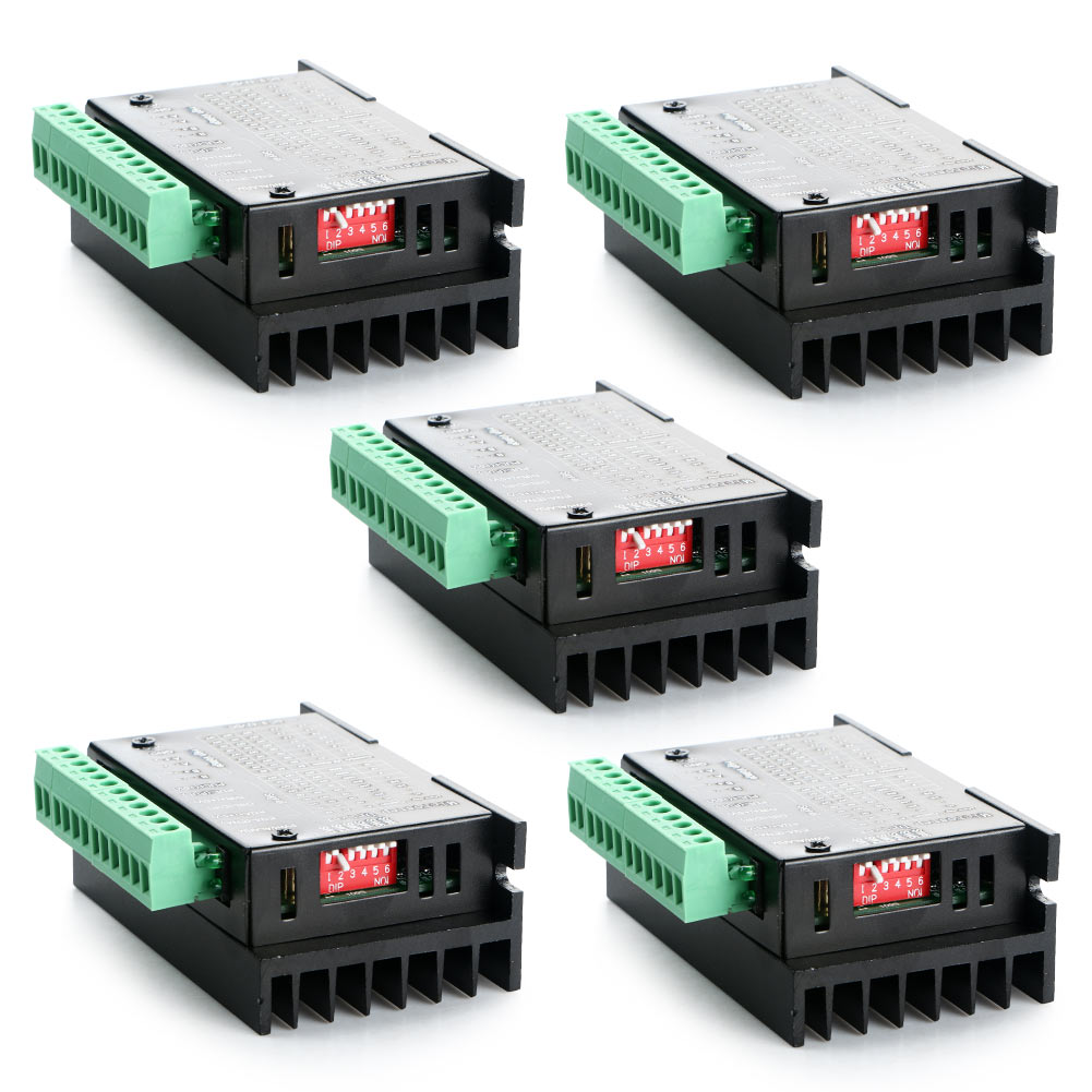 5Pcs 4A TB6600 CNC Single Axis 2/4 Phase Hybrid Stepper Motor Engraving/Labeling Machines Driver Controller div268n 5a new cnc single axis tb6600 0 2 5a two phase hybrid stepper motor driver controller motor accessories