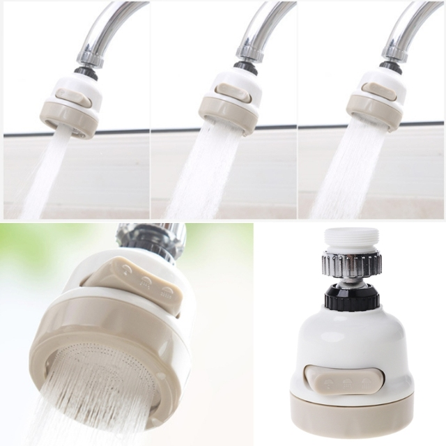 を回転させる蛇口フィルターアダプター節水タップディフューザー浴室キッチン#0604