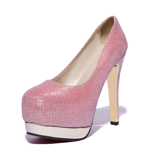 Zapatos Mujer Tacon Women Pumps Shoes Fashion Platform Pumps High-heeled Shoes Sexy Round Toe Women's Prom Size 33-47 T-8013