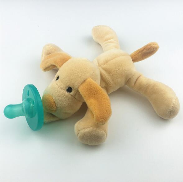 Милая Детская плюшевая игрушка, соска для новорожденных мальчиков и девочек, мультяшная Соска-пустышка Силиконовая пустышка, соска, аксессуары для кормления - Цвет: Dog