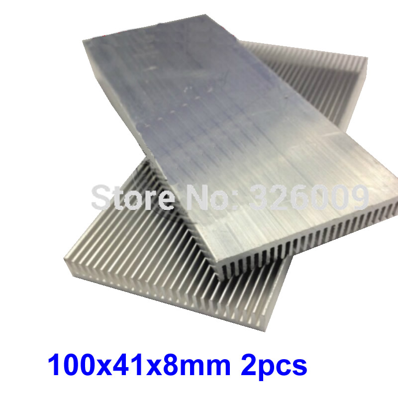 все цены на 2pcs 100x41x8mm Extruded Aluminum heatsink IC Chip VGA Memory Routers Northbridge Southbridge CMOS radiator онлайн