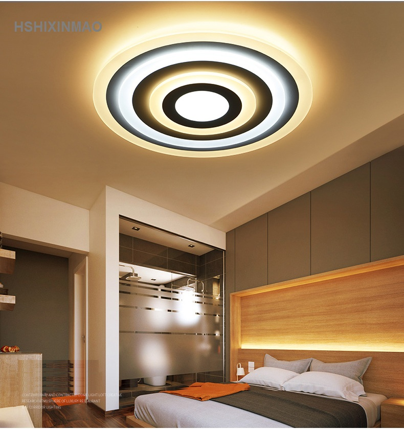 Ultra thin acrylic dimming LED ceiling light modern simple ...