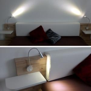 Image 5 - 2pcs מנורת קיר פמוטים מיטת אור מודרני קיר אור לחדר השינה, מנורה שליד המיטה, לופט דקור