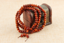 108* 0.8cm Raja Kayu Prayer Beads red Natural Wooden Mala Bracelet Buddha Rosary Necklace Tibetan Buddhist Jewelry