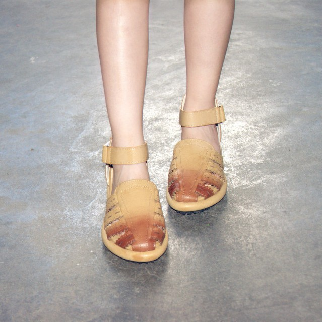 2015 new summer sandals with hollow girls Mori women shoes Vintage Carved Velcro shoes,Khaki& White