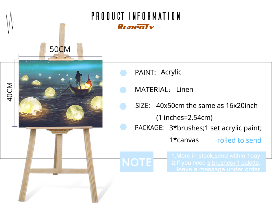 HTB13sBCXMKG3KVjSZFLq6yMvXXam RUOPOTY Frame River Light DIY Painting By Numbers Kit Landscape Acrylic Paint By Numbers On Canvas Handpainted Oil Painting Gift