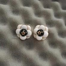 Camellia Pierce Earring for women Big cc Stud Earrings boucles d oreilles (China) 6451fb9e839a