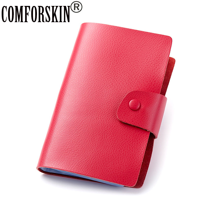 2016 Genuine Leather  Unisex Credit Card Holders Multi-function Large Capacity 120 Pages Wallet Case