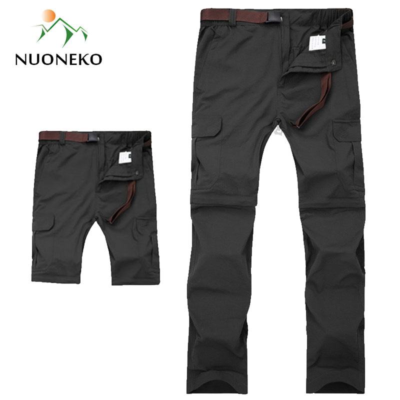 M-7XL Men's Summer Quick Dry Removable Hiking Pants Breathable Trousers Outdoor Sports Trekking Fishing Waterproof Shorts PN18