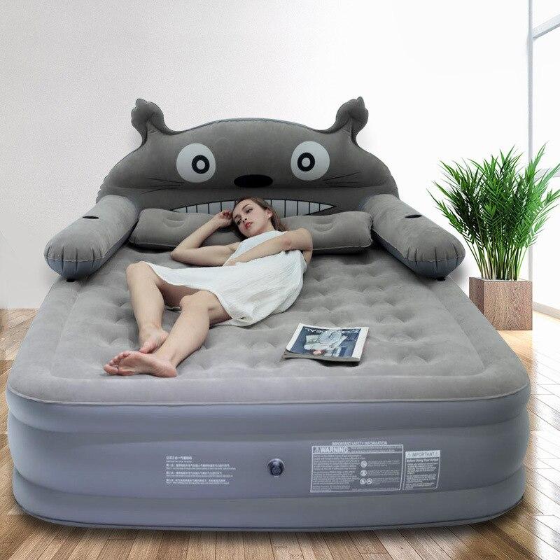 Cartoon Inflatable Sheets Double Increase Thick Air Cushion Outdoor Portable Bed Air Mattress Family Mattress Camping Mat