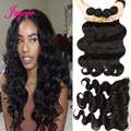 Peruvian Lace Frontal Closure With Bundles 7A Peruvian Body Wave Bundles with Frontal Peruvian Virgin Hair With Frontal Closure