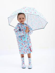 Image 2 - עמיד למים Windproof מעילי גשם לילדים תינוק בני בנות פונצ ו עבור 2 8 שנים