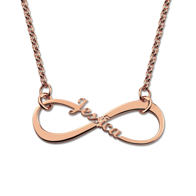 Personalized Single Name Infinity Necklace Infinity Symbol Necklace