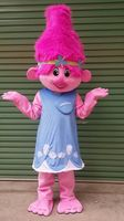 Hot sale 2017 Trolls Mascot Costume poppy branch Parade Quality Clowns Halloween party activity Fancy Outfit