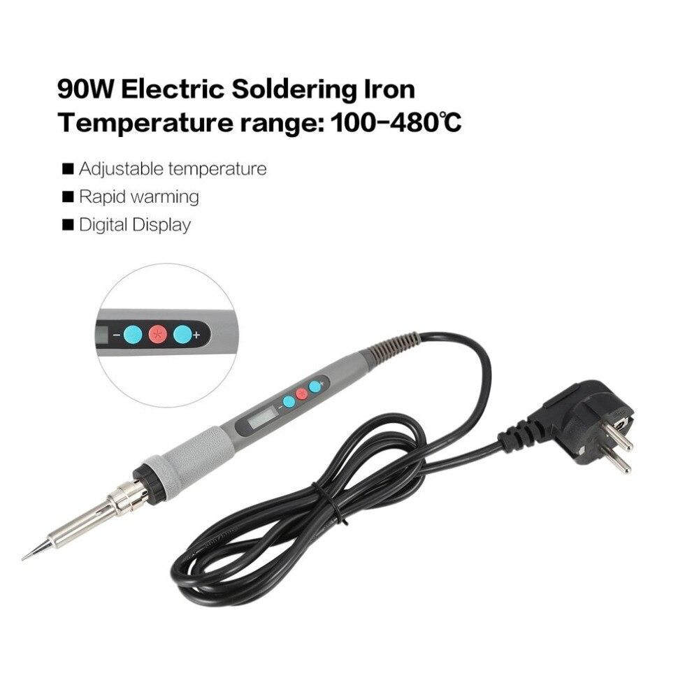90W Digital Display Adjustable Electric Soldering Iron Welding Solder Electric Heat Pencil Soldering Irons Repair Tool Pen Sale