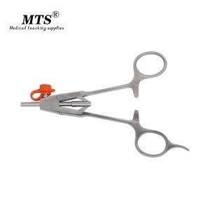 Image 4 - MTS tıbbi endoskop cerrahi aracı o tipi İğne tutucu forseps düz kafa laparoskopik cerrahi için