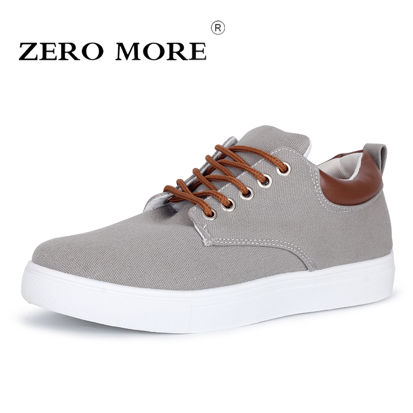 ZERO MORE New Arrival Spring Summer Comfortable Casual Shoes Big Size Mens Canvas Shoes For Men Lace Up Brand Fashion Flat Shoes men s leather shoes vintage style casual shoes comfortable lace up flat shoes men footwears size 39 44 pa005m