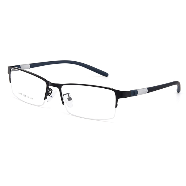 Gmei Optical Men Titanium Alloy Eyeglasses Frame for Men Eyewear Flexible Temples Legs IP Electroplating Alloy Spectacles Y2442 2