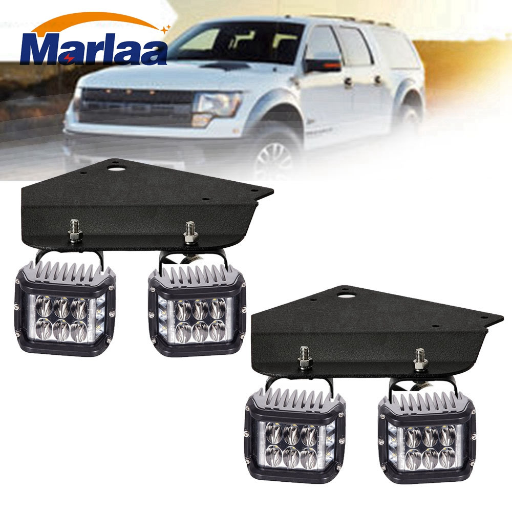 For 2010-2016 Ford SVT Raptor F150 4 x 36 W LED Fog Light Pods+ Hidden Bumper Mounting Bracket монстр 1 12 электро savage xs flux ford svt raptor 2 4ghz влагозащита без акб и з у
