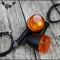 1 комплект 4 шт. Ретро мотоциклетный мигалка черный Передний Задний мигалка мото индикатор для honda yamaha harley мотоцикл указатель поворота