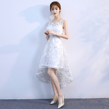 Beading feathers decoration Evening Dresses short white Homecoming dresses  Party Elegant Vestido De Festa Prom Gowns 2018 new