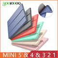 Case for iPad Mini 4 3 2 1 Case PU Leather Silicone Soft Back Trifold Stand Sleep Smart Cover for iPad Mini 2 5 2019 Case Funda