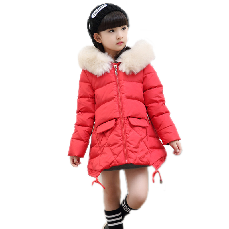 kids coats girls winter 2018 tennager girls winter jackets solid white duck down girls parkas big fur collar thicken girl coat 2017 winter new clothes to overcome the coat of women in the long reed rabbit hair fur fur coat fox raccoon fur collar