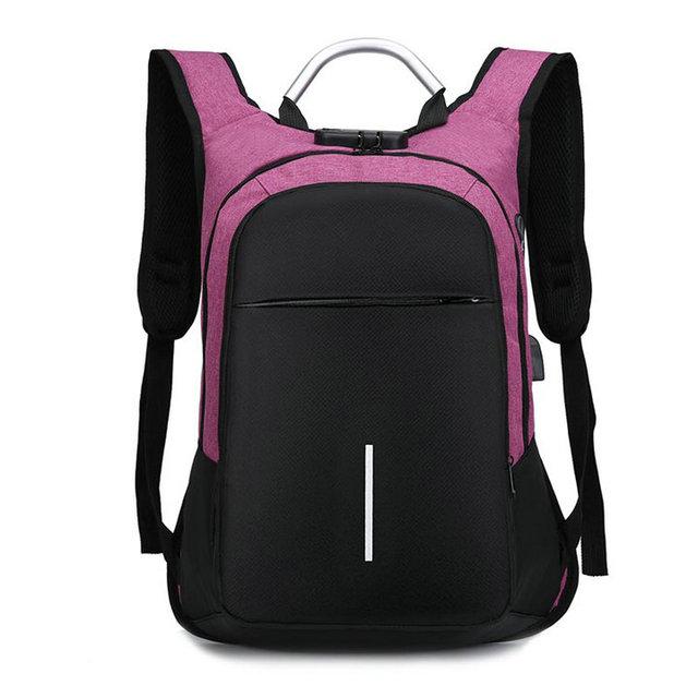 "Soperwilltion Men's Backpack Anti Theft Waterproof 15.6"" Laptop Backpack bag Male Female Teenage Student bagpack Travel bag 1235"