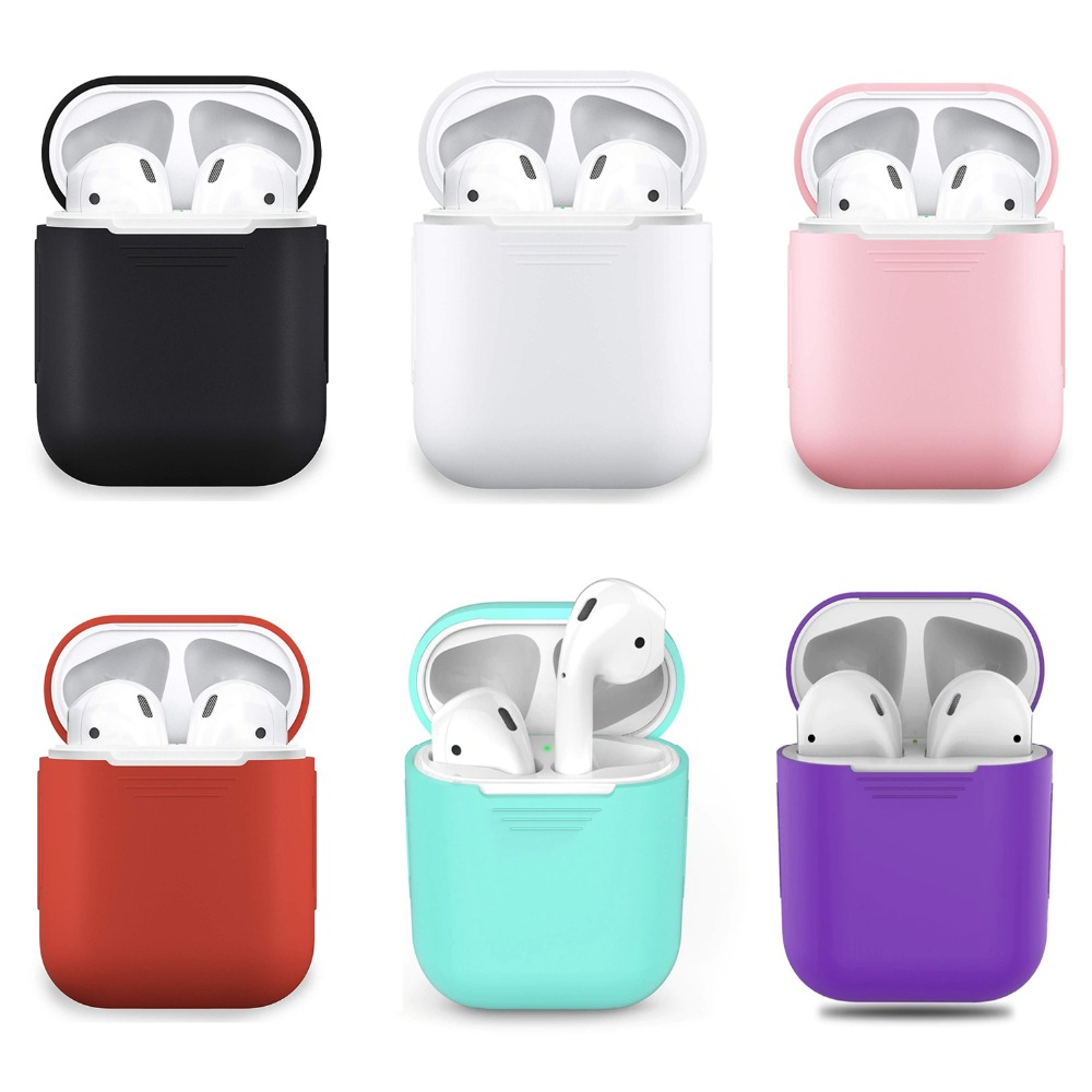 AirPods Case, Shockproof Protective Silicone Cover  For Apple AirPods Earphone Cases Ultra Thin AirPods Charging  Case