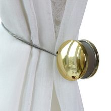 1pcs simple two round curtain buckle Free installation decoration for curtain and home decoration(China)