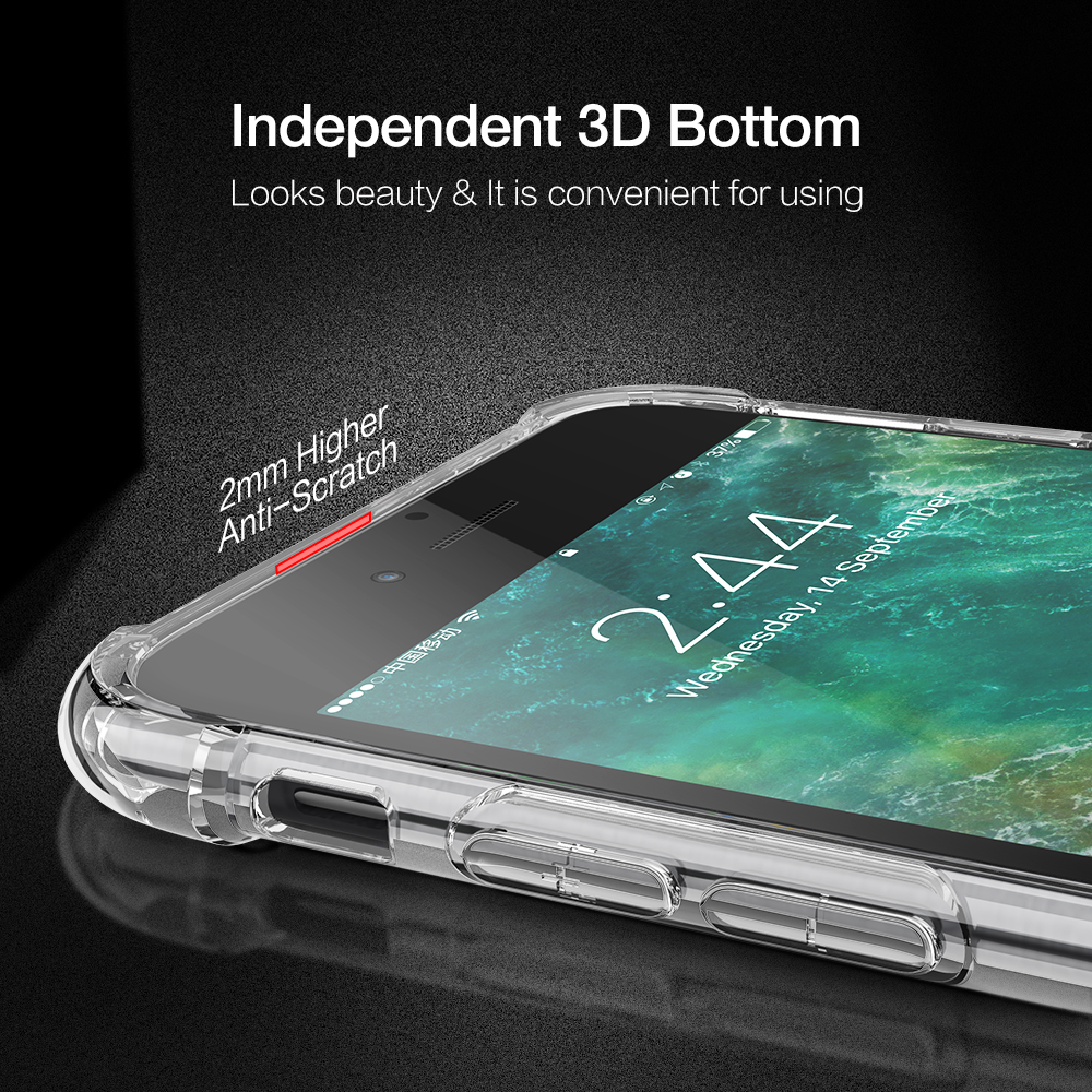 KISSCASE Shockproof Case For iPhone X 6 7 8 Plus Phone Case For iPhone 11 Pro Max XS Max XR 5S 5 SE 7 Clear Soft Silicone Fundas