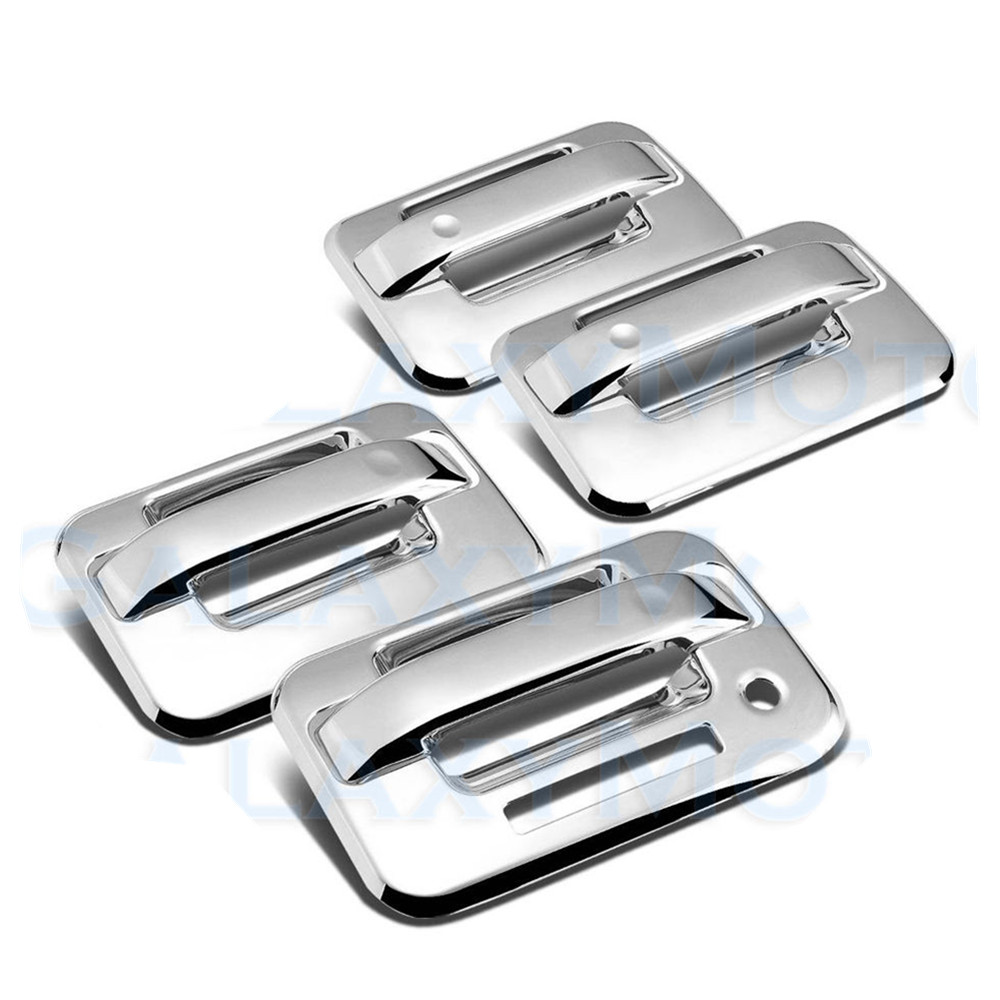 03-04 Lincoln Aviator Chrome 4 Door Handle Cover Covers with PSG Keyhole
