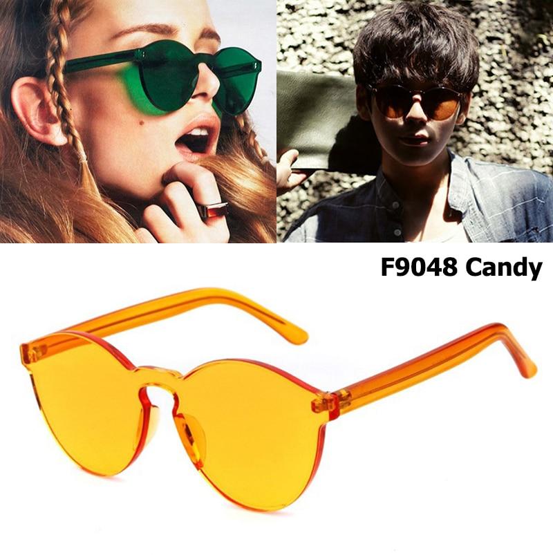 JackJad 2017 Nová módní průhledná bonbónová barva Rimless Frame Sluneční brýle Značka Design Kulatý styl Sluneční brýle Oculos De Sol