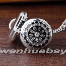 Блестящие маленькие женские Кристальные кварцевые карманные часы с арабскими цифрами, уникальный алмаз, имитация кулона, серебряное ожерелье, часы с цепочкой