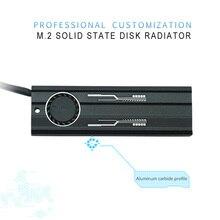 M.2 радиатора ssd алюминиевый лист Термальность проводимости кремниевых пластин вентилятор охлаждения радиатора PCIE NVME SSD радиатора
