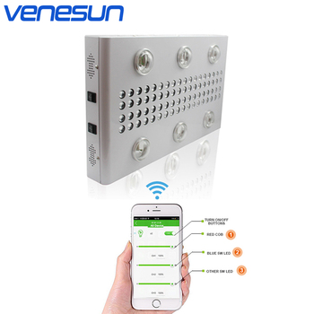 LED Grow Light Panel Venesun 900W Full Spectrum with COB and LED Growing Lamp Dimmable WiFi Control for Indoor Greenhouse Plant недорого