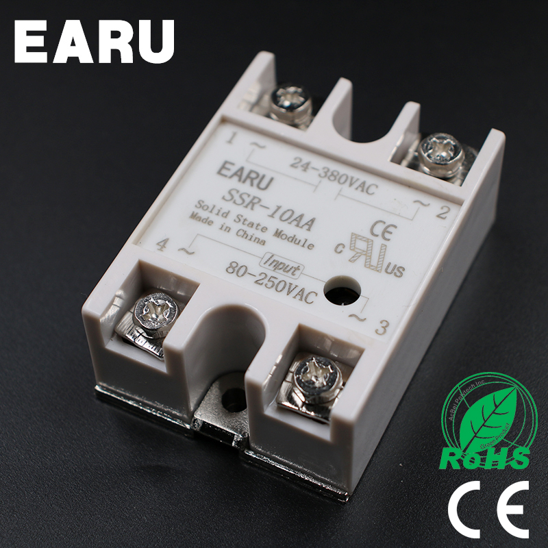 Solid State Relay Module SSR-10AA SSR-10 AA SSR 10A 80-250VAC Input To 24-380VAC Output Industry Control