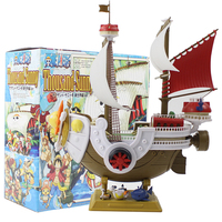 28cm One Piece Thousand Sunny Luffy Pirate Ship Model Boat PVC Action Figure Collectible Toy Model Doll For Kids Gift