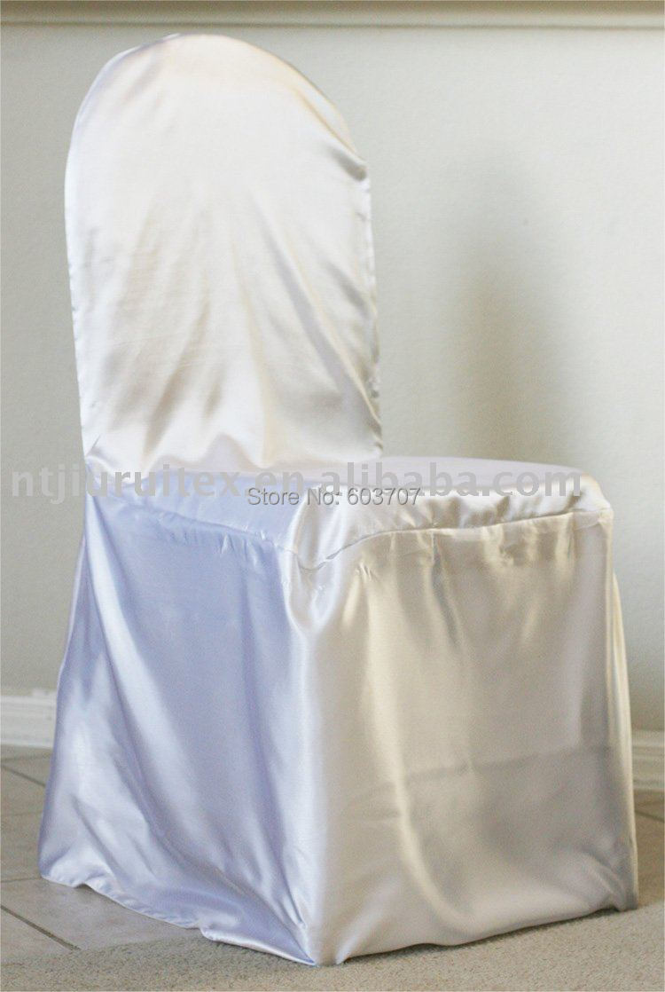 Chair Covers Price For Wingback Aliexpress Com Buy White Satin Cover Wholesale 100pcs A Lot Free Shipping 5 Size Choice